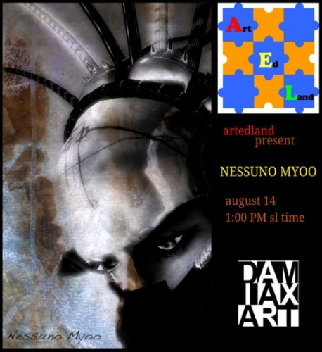 nessuno myoo,second life,art,sculpture,installation,mexi lane,damiax thor,myhns mayo,kicca igaly,lea,stanley kubrick,full metal jacket,3d,digital world,virtual,universe,metaverse